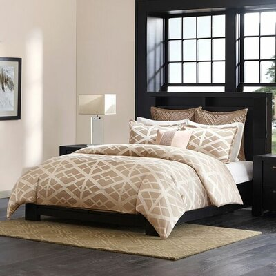 Kenmare 3 Piece Comforter Set Color: Taupe, Size: King