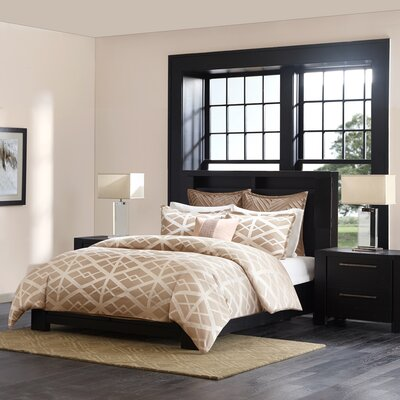 Kenmare 3 Piece Duvet Cover Set Size: Queen, Color: Taupe