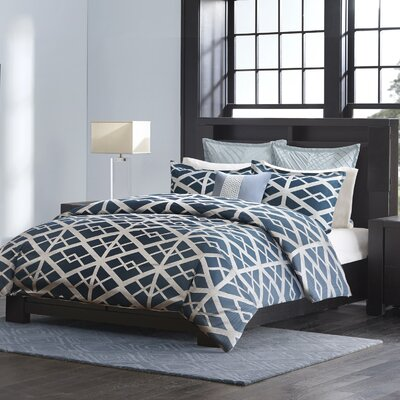 Kenmare 3 Piece Comforter Set Size: King, Color: Blue