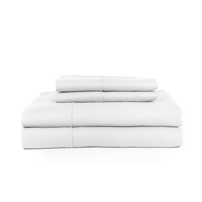 Knightsbridge 600 Thread Count Egyptian Quality Cotton Jacquard Herringbone Sheet Set Size: King, Color: White