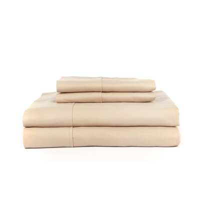Knightsbridge 600 Thread Count Egyptian Quality Cotton Jacquard Herringbone Sheet Set Size: Queen, Color: Taupe