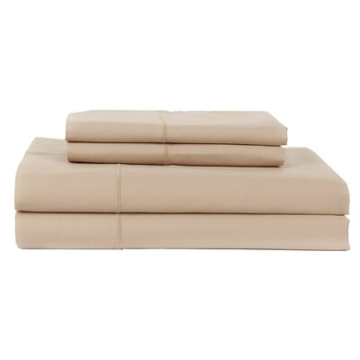 Perthshire Platinum 4 Piece 1200 Thread Count Egyptian Quality Cotton Sateen Sheet Set Size: Queen, Color: Taupe
