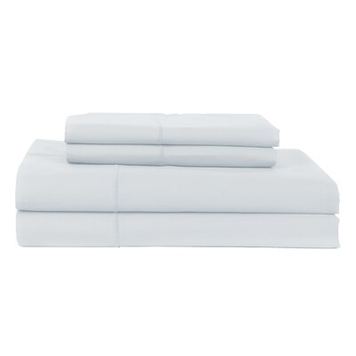 Hotel by Perthshire 4 Piece 620 Thread Count Egyptian Quality Cotton Sateen Sheet Set Color: Light Blue, Size: King