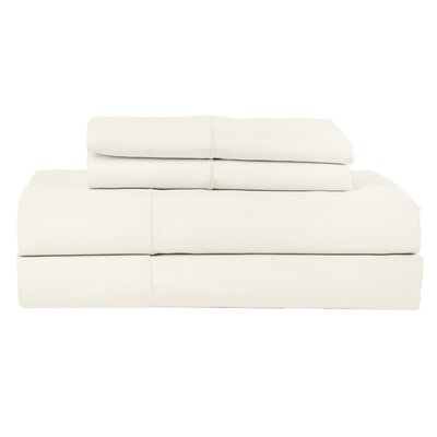 Perthshire Platinum 4 Piece 1200 Thread Count Egyptian Quality Cotton Sateen Sheet Set Size: King, Color: Ivory