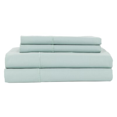 Perthshire Platinum 4 Piece 1200 Thread Count Egyptian Quality Cotton Sateen Sheet Set Size: King, Color: Ocean Blue