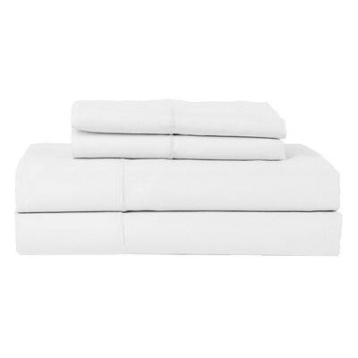 Perthshire Platinum 4 Piece 800 Thread Count Egyptian Quality Cotton Sateen Sheet Set Size: King, Color: White