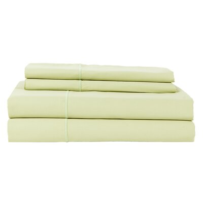 Perthshire Platinum 4 Piece 800 Thread Count Egyptian Quality Cotton Sateen Sheet Set Size: King, Color: Sage