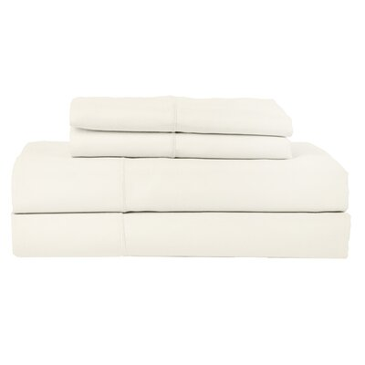 Perthshire Platinum 4 Piece 800 Thread Count Egyptian Quality Cotton Sateen Sheet Set Color: Ivory, Size: King