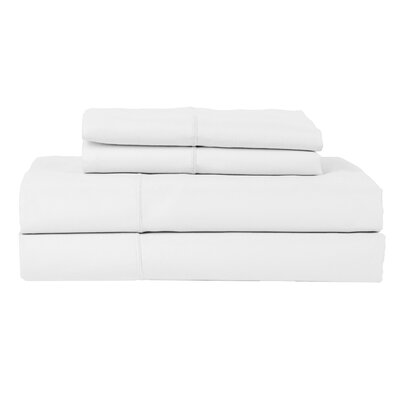 Hotel by Perthshire 4 Piece 620 Thread Count Egyptian Quality Cotton Sateen Sheet Set Size: Queen, Color: White