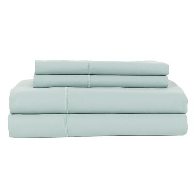 Hotel by Perthshire 4 Piece 620 Thread Count Egyptian Quality Cotton Sateen Sheet Set Size: King, Color: Ocean Blue