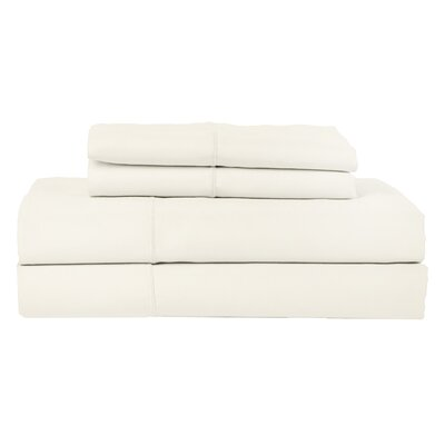 Hotel by Perthshire 4 Piece 620 Thread Count Egyptian Quality Cotton Sateen Sheet Set Size: Queen, Color: Ivory