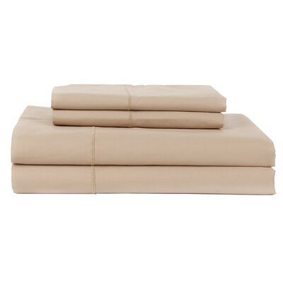 Hotel by Perthshire 4 Piece 620 Thread Count Egyptian Quality Cotton Sateen Sheet Set Size: Queen, Color: Taupe