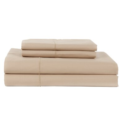 Perthshire Platinum 4 Piece 800 Thread Count Egyptian Quality Cotton Sateen Sheet Set Color: Taupe, Size: California King