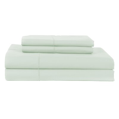 Hotel by Perthshire 4 Piece 620 Thread Count Egyptian Quality Cotton Sateen Sheet Set Color: Celedon, Size: King