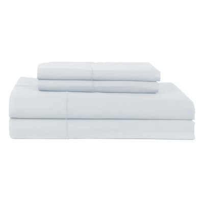 Perthshire Platinum 4 Piece 800 Thread Count Egyptian Quality Cotton Sateen Sheet Set Size: King, Color: Light Blue