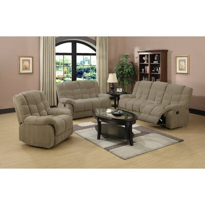 Heaven on Earth 3 Piece Reclining Living Room Set