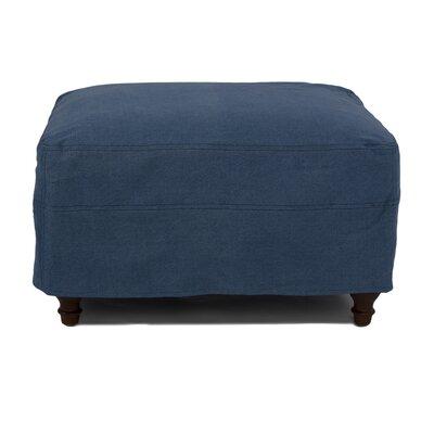 Seacoast Slipcovered Ottoman Upholstery: Indigo Blue