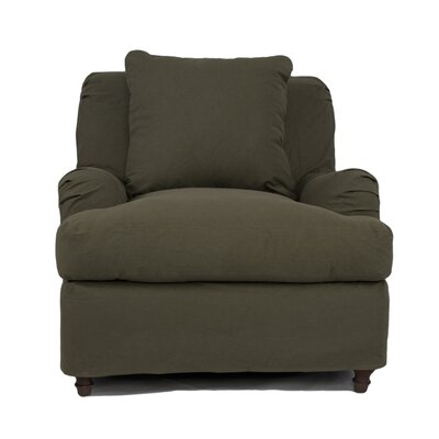 Seacoast Armchair Slipcover Upholstery: Forest Green