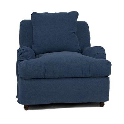 Seacoast Armchair Slipcover Upholstery: Indigo Blue
