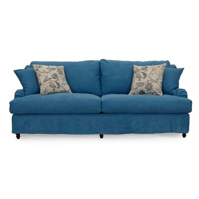 Seacoast Slipcovered Sofa Upholstery: Indigo Blue