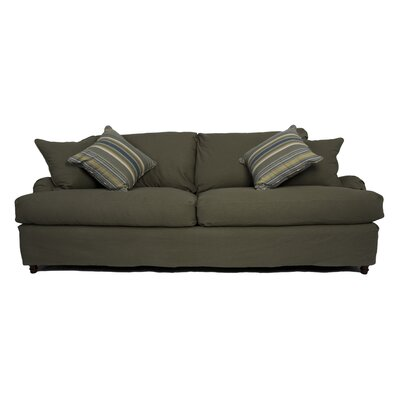 Seacoast Slipcovered Sofa Upholstery: Forest Green