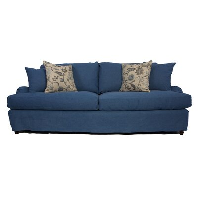 Seacoast Sofa T-Cushion Slipcover Set Upholstery: Indigo Blue