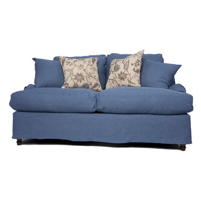 Seacoast Slipcovered Loveseat Upholstery: Indigo Blue