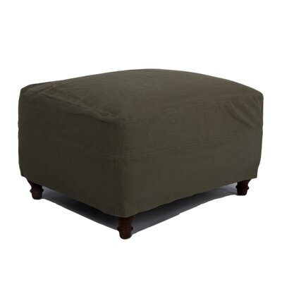 Seacoast Ottoman Upholstery: Forest Green