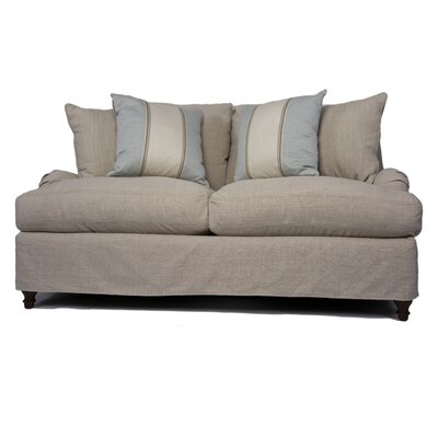 Seacoast Loveseat T-Cushion Slipcover Set