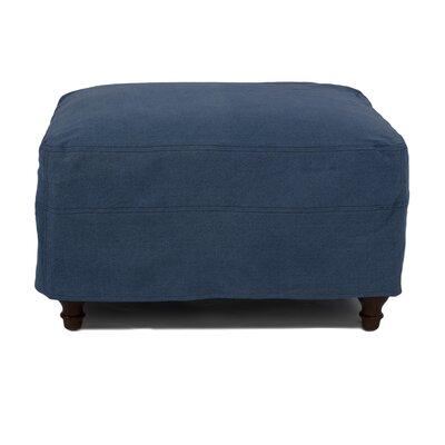 Seacoast Ottoman Slipcover Upholstery: Indigo Blue