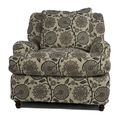Seacoast Slipcovered Arm Chair and Ottoman