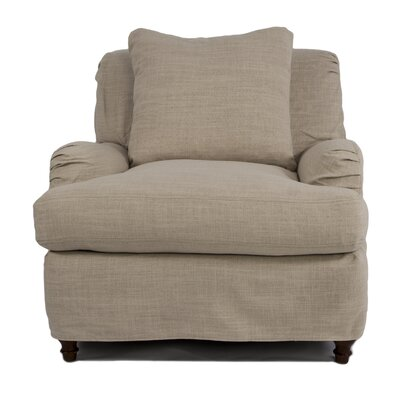 Seacoast Slip covered Arm Chair and Ottoman