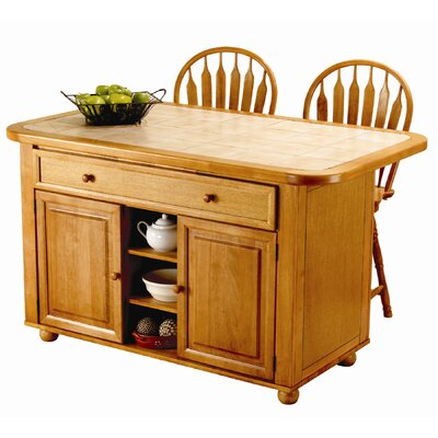 Sunset Trading Sunset Selections Kitchen Island - Finish: Rich Honey Light Oak at Sears.com
