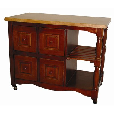 Sunset Selections Kitchen Island with Butcher Block Finish: Nutmeg / Rich Honey Light Oak