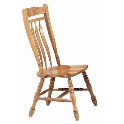 Sunset Selections Aspen Comfort Back Side Chair Finish: Rich Honey Light Oak