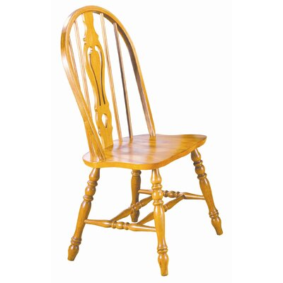 Sunset Selections Keyhole Back Side Chair Finish: Rich Honey Light Oak