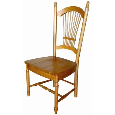 Sunset Selections Allenridge Comfort Back Side Chair Side Chair Finish: Rich Honey Light Oak