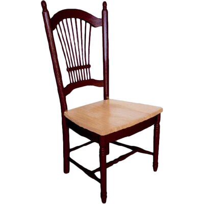 Sunset Selections Allenridge Comfort Back Side Chair Side Chair Finish: Nutmeg / Rich Honey Light Oak