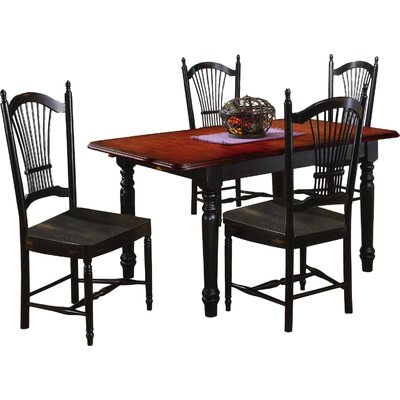 Sunset Selections Butterfly Extension Dining Table Table Finish: Antique Black / Cherry