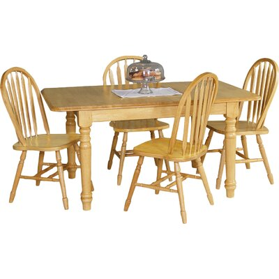 Sunset Selections Butterfly Extension Dining Table Table Finish: Rich Honey Light Oak