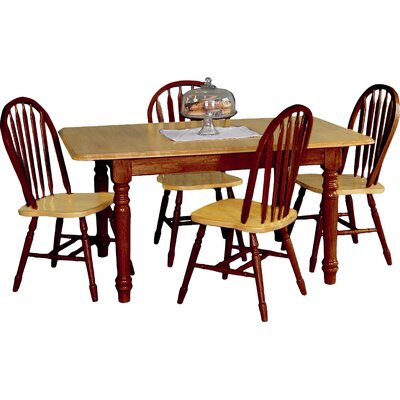 Sunset Selections Butterfly Extension Dining Table Table Finish: Nutmeg / Rich Honey Light Oak