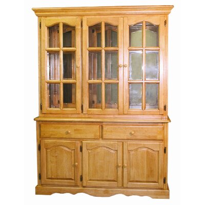 Sunset Selections Dining Lighted China Cabinet Color: Rich Honey Light Oak