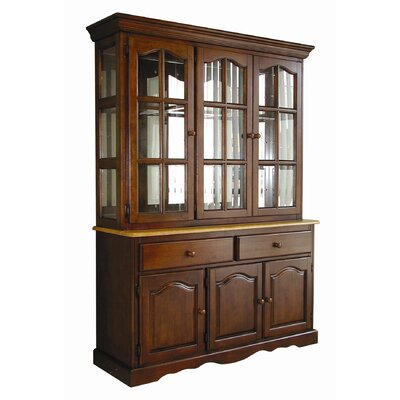 Sunset Selections Dining Lighted China Cabinet Color: Nutmeg / Rich Honey Light Oak