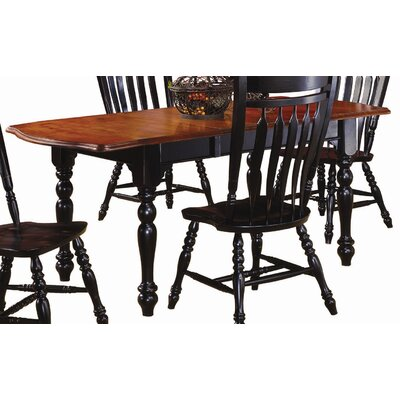 Sunset Selections Drop Leaf Extension Dining Table Finish: Antique Black / Cherry