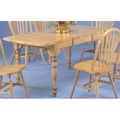 Sunset Selections Drop Leaf Extension Dining Table Finish: Rich Honey Light Oak
