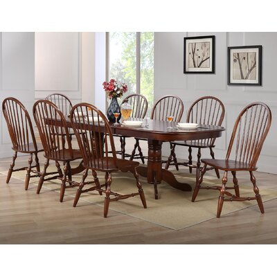 Lozano 9 Piece Drop Leaf Dining Set