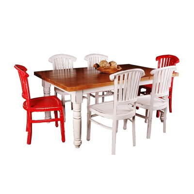 Adelmo 7 Piece Whitewashed Dining Set