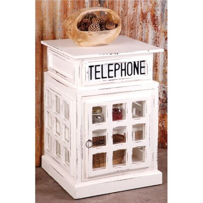 Shirleen Phone Booth End Table with Storage