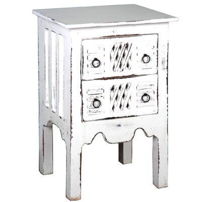 Adelmo Whitewashed End Table
