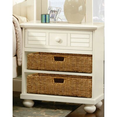 Cowling Ice Cream at the Beach 1 Drawer Nightstand